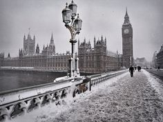 London wall art Winter Photography Black and white by LondonDream, $32.00