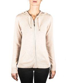 Damen Kaschmir Kapuzenpullover washed ecru front Hooded Jacket, Athletic, Tops, Jackets, Fashion, Cashmere, Hoodie, Women's, Jacket With Hoodie