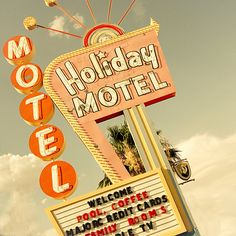 Vintage Road Sign Photography  Retro American Holiday by KeriBevan, $24.00