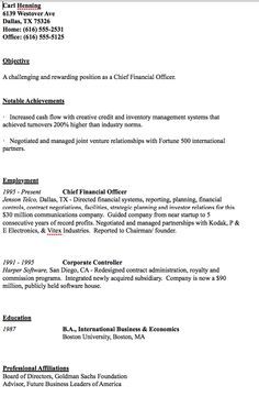 sample of cfo resume httpresumesdesigncomsample of