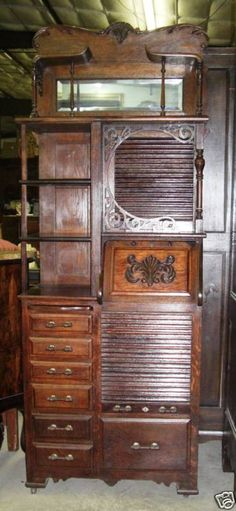 Rare Vintage Pulaski Keepsake Solid Golden Oak Tall