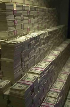 Stacks of money.