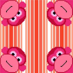 This fun cross stitch pattern of brightly coloured monkeys popping out of every corner will delight the young ones! Modern minimalist design by CrossStitchtheLine