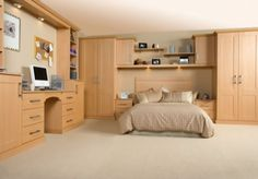 Everyone dreams for a composed and attractive home. Now you can make your bedroom a composed and beautiful one for you. Inspired kitchens and bedrooms offers you fitted bedrooms of your choice. Bedroom Sets, Home Bedroom, Bedroom Decor, Bedroom Furniture For Sale, Fitted Bedrooms, Master Bedroom Design, Bedroom Designs, Kitchens And Bedrooms, House Design