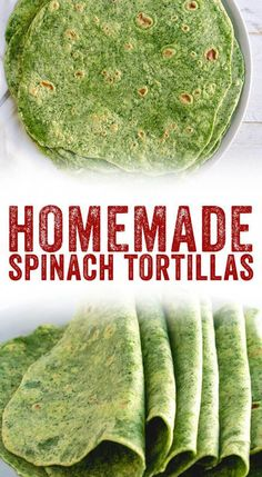 Looking for a healthy tortilla recipe? These homemade spinach tortillas are nutrient packed—they're great for wraps or tacos, and kids love the green color! # healthy wraps Easy Spinach Tortillas Recipe – A Couple Cooks Mexican Food Recipes, Vegetarian Recipes, Cooking Recipes, Healthy Recipes, Vegetarian Wraps, Healthy Cauliflower Recipes, Vegan Recipes For Kids, Cooked Spinach Recipes, Healthy Mexican Food
