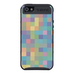 Pastel Rainbow Pixel Pattern iPhone 5 Cover
