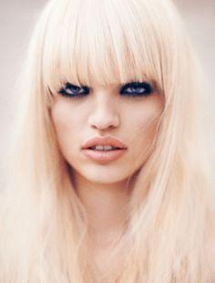 Daphne Groeneveld + Dansk magazine Spring 2013 + platinum hair