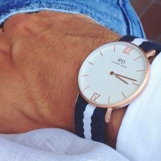 """How do you wear and combine your Daniel Wellington watch? Follow @danielwellingtonwatches for inspiration and remember that the code """"mensfashion14"""" will give you 15% off at http://danielwellington.com until September 30th"""