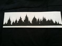Forest treeline tattoo idea
