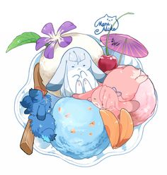 pixiv is an online artist community where members can browse and submit works, join official contests, and collaborate on works with other members. Touken Ranbu Characters, Sword Dance, Chibi Food, Rabbit Art, Cute Chibi, Cute Pokemon, Kawaii Art, Mythical Creatures, Manga Art