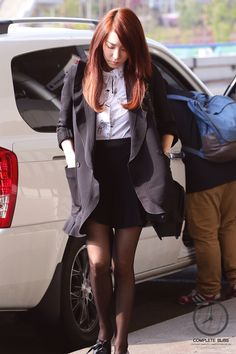 Tiffany Hwang SNSD airport fashion April 2014