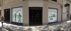 """We love shopping"", Cartel en Serrano, 17. Madrid"