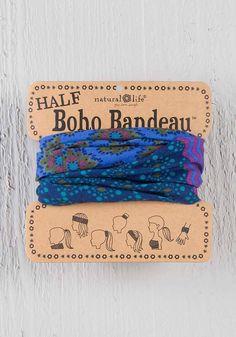 Half Bandeau Headband - Purple Blue Stripe - Cordial Lee Boho Headband 47d9d3a3d839