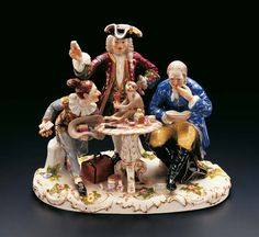 "Porcelain Group ""The Dentist"" by Johann Joachim Kaendler (1706--1775) From the early years of the world famous Meissen Porcelain Manufactory"