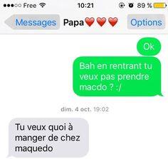 Quand mon père essaie d'écrire macdo | Mes Parents Font des SMS