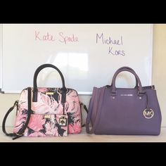 Personal Collection Finally got my first MK!! I'm IN LOVE! I WANT ALL THE SUTTONS!! And I just love my KS set too!  Michael Kors Bags Satchels