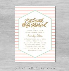 Spring bridal shower invitation digital / printable by oliveINK feat @mollyjacques lettering