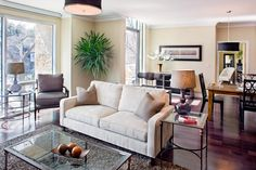 Barton Place Models | Living Room | Paula Ables Interiors | Clean-lined, traditional home made to attract the empty nester and young family