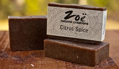 [CITRUS SPICE] Handmade with natural luxury ingredients, our handcrafted soaps are all the talk  >> www.zoenaturalcreations.com #natural #products #beauty #skincare #pamper #skin #health #organic #naturalbeauty #naturalhealth #eco