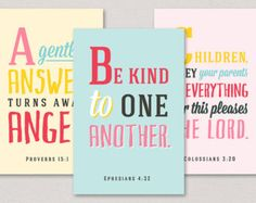 ABC Verses | A to Z Bible Verses for Children | 26 4x6 Art Prints