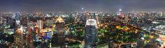 Bangkok Skyline bei Nacht! Unbedingt kaufen auf Leinwand oder Poster!