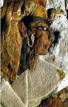 Queen Nefertari. Egypt. d. 1256 BC. Tomb Wall. Wife of Ramses II, 19th dynasty