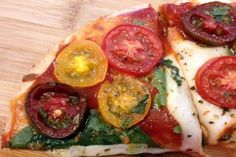 Quick and Easy Margherita Pizza by Sara of Imperfect Kitchen - look at those gooey cheese!