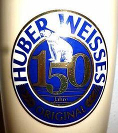 Huber Weisses 150 Years Freising Ceramic Weizen German Beer Glass German Beer, Ceramics, Glass, Ceramica, Pottery, Drinkware, Corning Glass, Ceramic Art, Porcelain