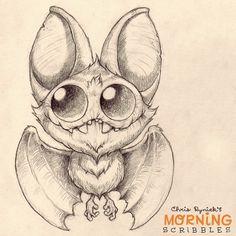 Fledermäuse machen nie Spaß beim Zeichnen! #morningscribbles
