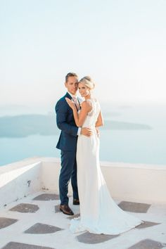 Gorgeous Santorini destination wedding: http://www.stylemepretty.com/destination-weddings/2015/12/30/classically-elegant-santorini-wedding/ | Photography: Anna Roussos - http://annaroussos.com/
