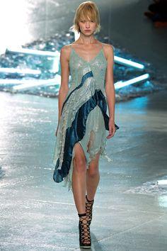 Spring Fashion Rodarte Aqua Blue Dress