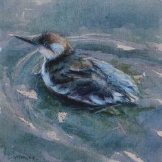 Watercolor on Linen Wildlife Paintings, Bird Paintings, Nautical Art, Birds, Watercolor, Sea, Animals, Beauty, Paintings Of Birds
