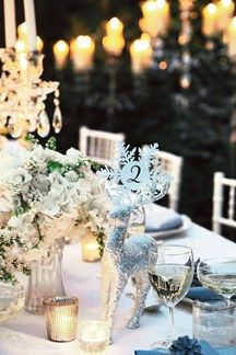 Reindeer Table Number Decoration (BridesMagazine.co.uk)