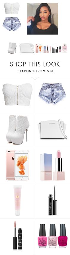 """-Glo Queen"" by krissyk-15 on Polyvore featuring NLY Trend, Michael Kors, Sephora Collection, Lancôme, MAC Cosmetics, NARS Cosmetics, OPI and Victoria's Secret"