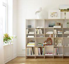 erweiterbares modulares regalsystem flexible regalsysteme. Black Bedroom Furniture Sets. Home Design Ideas