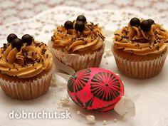 Cupcakes s karamelovým krémom