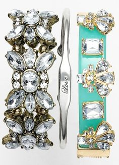 love these dazzling bracelets http://rstyle.me/n/hrgzer9te