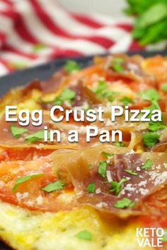 Keto Egg Recipe, Egg Recipes, Low Carb Recipes, Healthy Recipes, Pan Recipe, Lasagna Recipes, Shrimp Recipes, Breakfast Pizza Healthy, Tasty