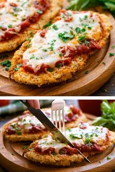 Air Fryer Chicken Parmesan Recipe The original but healthier version of chicken parmesan! This Air Fryer Chicken Parmesan Recipe is crispy, nice, and juicy! This is an easy dinner in your Air Fryer and the whole family is going to love it. We like to pair Air Fryer Oven Recipes, Air Frier Recipes, Air Fryer Dinner Recipes, Recipes For Dinner, Air Fryer Recipes Videos, Air Fryer Recipes Chicken Tenders, Convection Oven Recipes, Air Fryer Recipes Appetizers, Air Fryer Fried Chicken