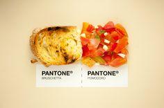 Anche pane e bruschetta partecipano al progetto: SICILIAN FOOD AS PANTONE. #FoodIdeas #pantone #CoolProject