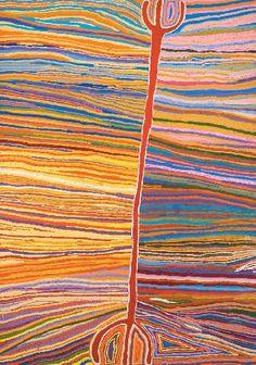 Judy Watson Napangardi Wititji - Hairstring Dreaming, 2004