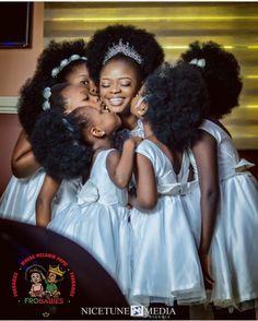 Black girl magic and kisses on your wedding day! @gladysirokah Natural Hair Brides, Natural Hair Wedding, Natural Hair Care, Natural Hair Styles, Curly Hair Styles, Black Girls Kissing, Black Girls Rock, Black Girl Magic, African Wedding Hairstyles