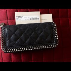 Stella McCartney Falabella Wallet In navy, new condition with tags. silver hardware. Stella McCartney Bags Wallets