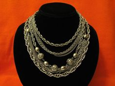 SALE Vintage Heavy Silver Tone 11 Strand Filigree Ball by ditbge, $38.00