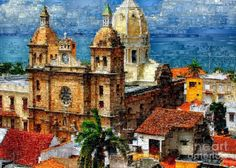 The Walled City In Cartagena De Indias Colombia Digital Art by Rafael Salazar