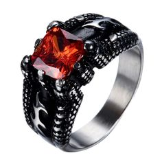 1.95 CT Marquise Coupe rouge grenat Sterling Silver Ring N//7 Jewellers stock ancien vente