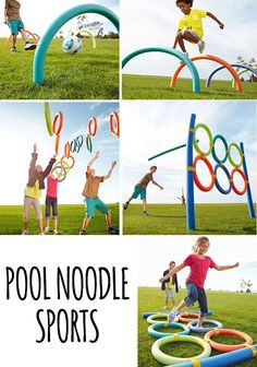 I love this collection of sports/active ideas using pool noodles from Parents. You could also just use them as an obstacle course in the backyard!