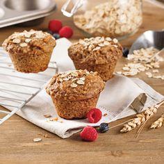 Muffins à l'avoine - Les recettes de Caty