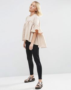 Image 4 of ASOS WHITE Extreme Frill Top