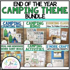 End Of The Year Camping Theme Bundle by Primary Playground | TpT
